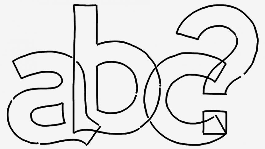 ABC font sketch