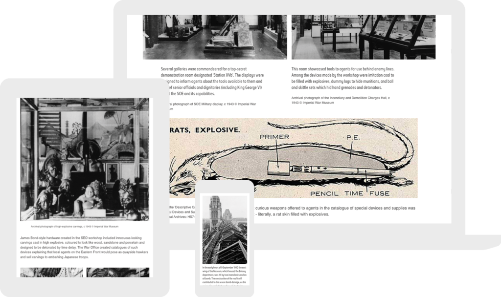 the museum at wartime responsive image story
